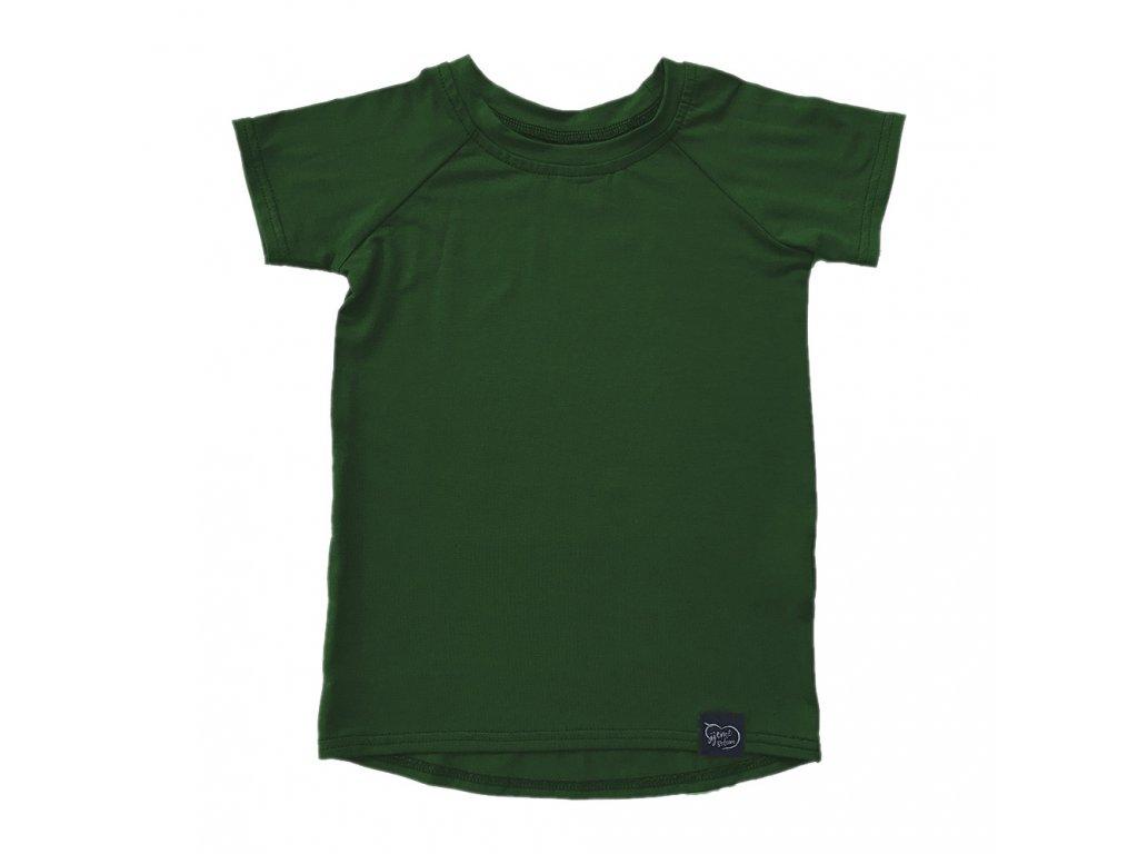 Bambusové tričko - khaki