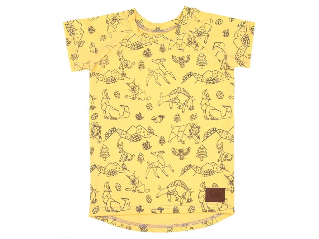 Dětské tričko Beskydy - žlutá