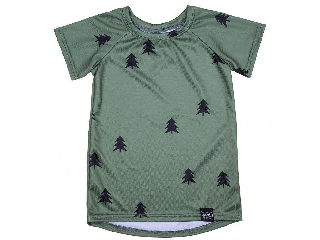 Funkční tričko les -khaki