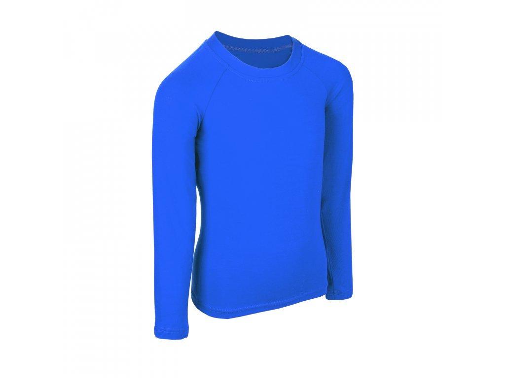 16938 unuo detske bambusove triko s dlouhym rukavem modra kralovska