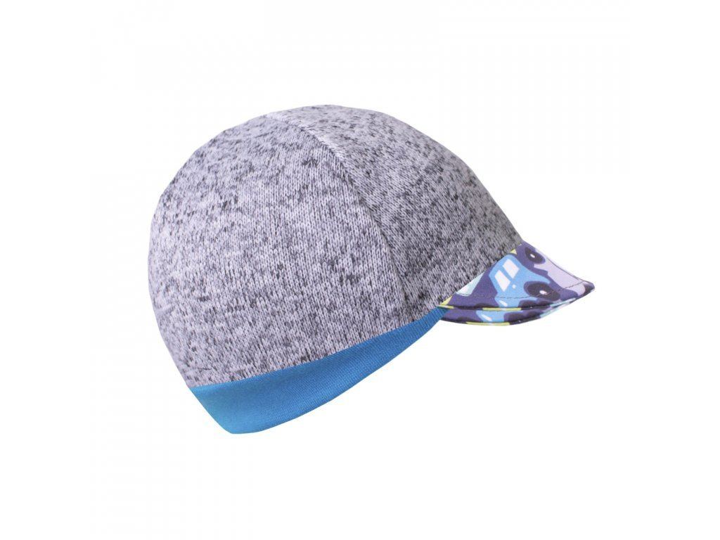 Čepice ze svetroviny s kšiltem Street - autíčka