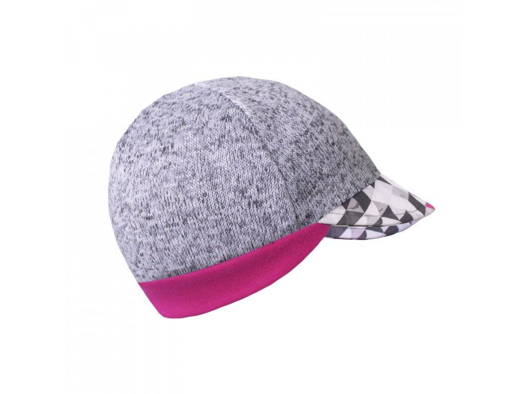 Čepice ze svetroviny s kšiltem Street - dívčí metricon