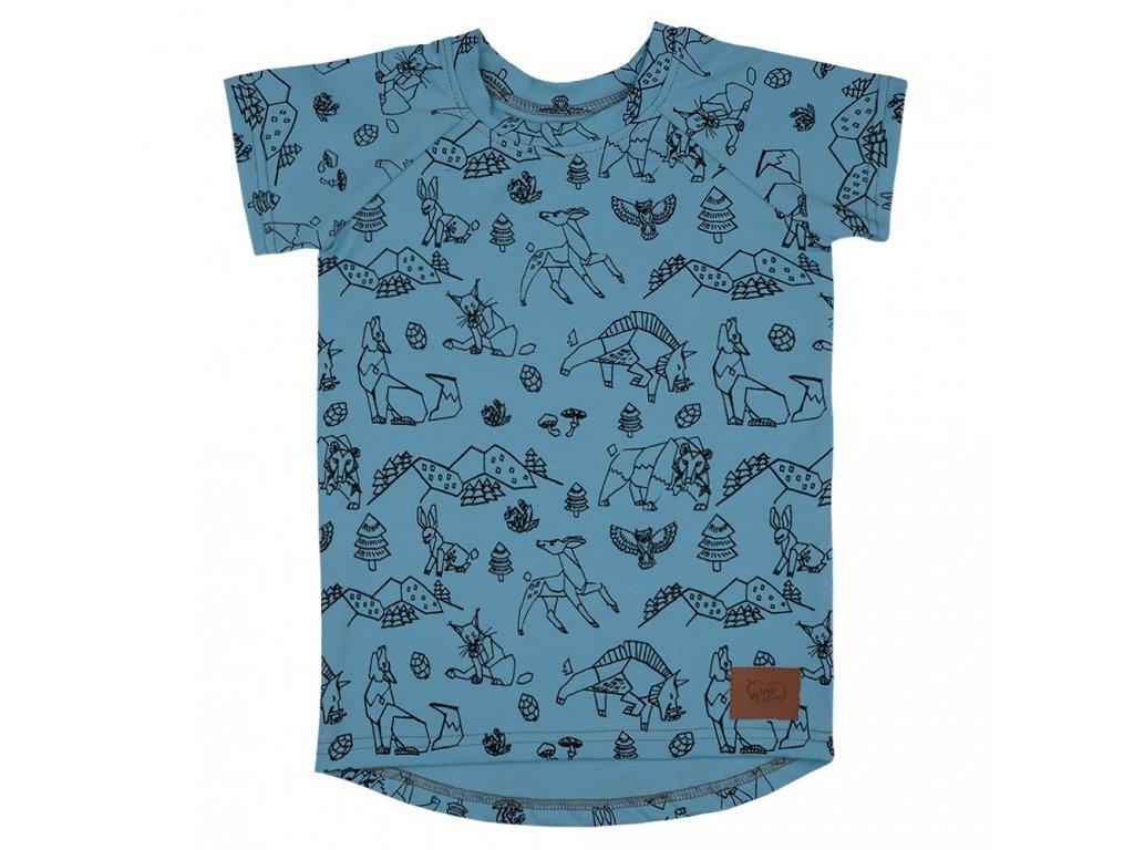 Dětské tričko Beskydy - modrá