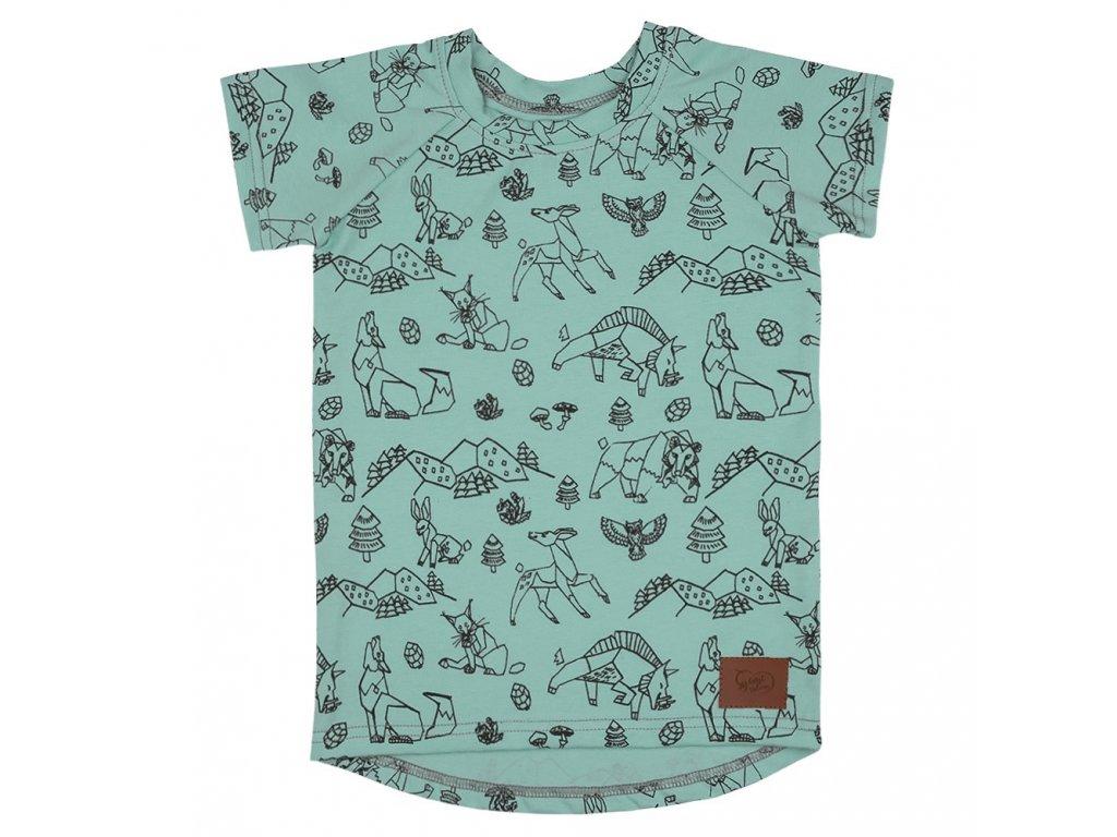 Dětské tričko Beskydy - zelená