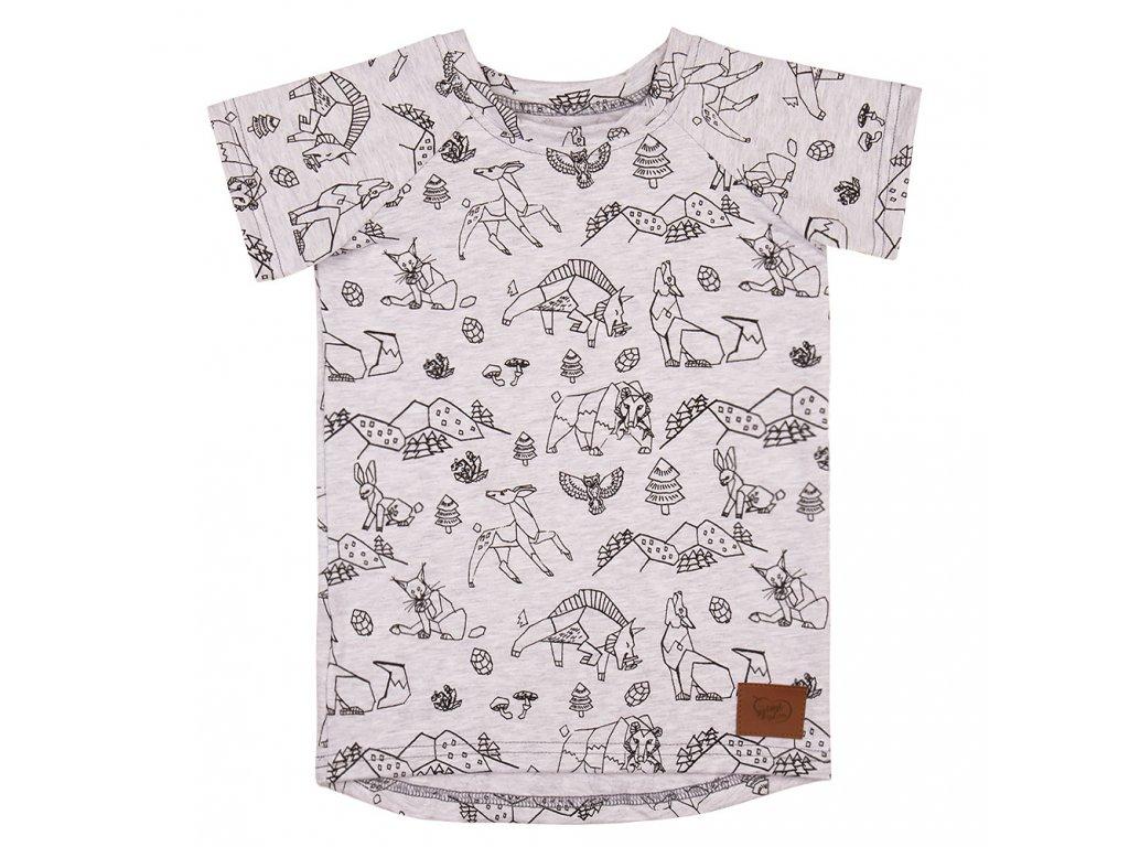 Dětské tričko Beskydy - šedá