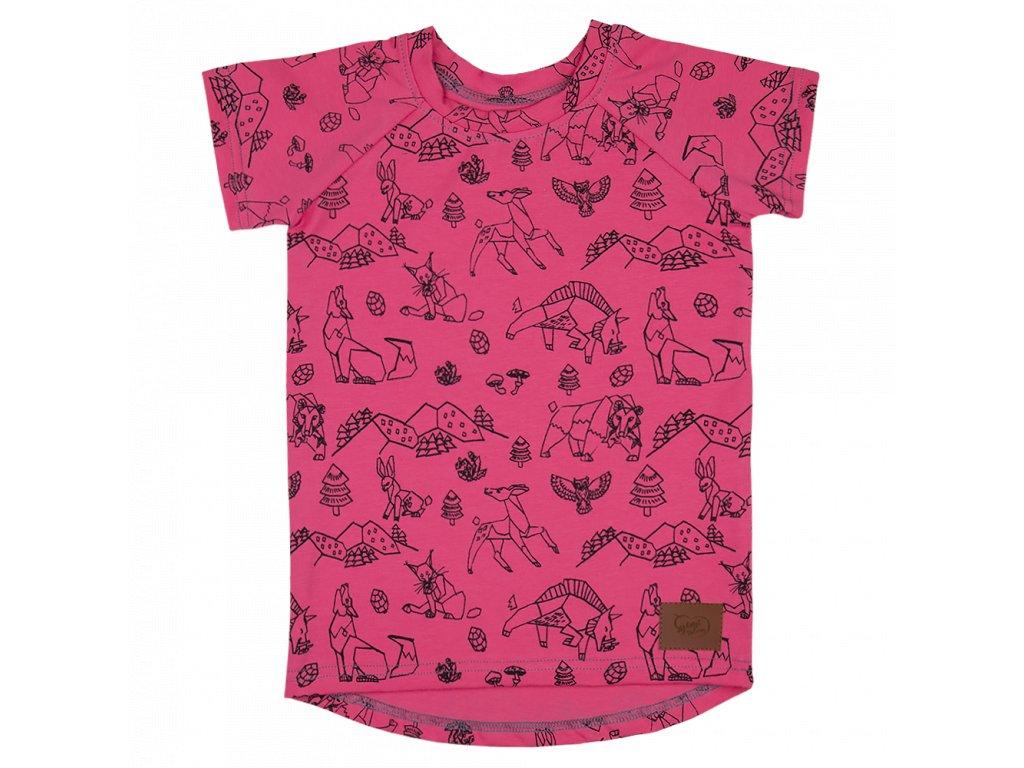 Dětské tričko Beskydy - růžová