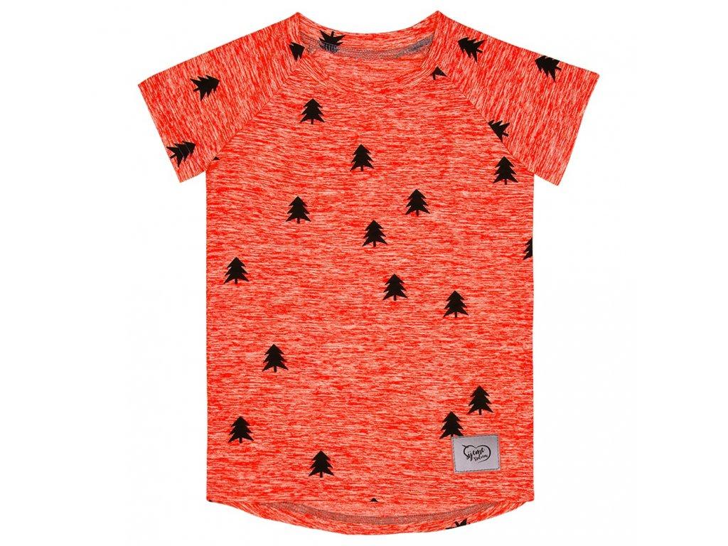 Funkční tričko les - oranžová
