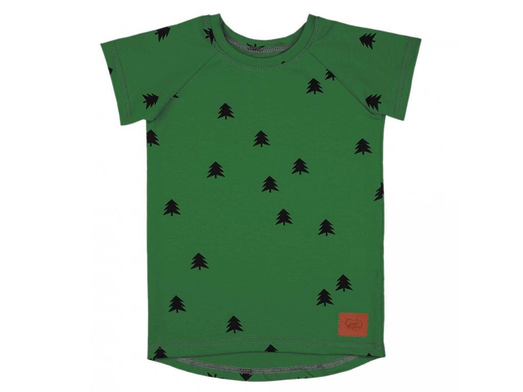 Dětské tričko les - zelená