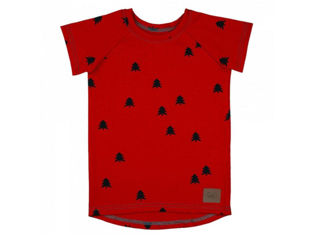 Dětské tričko les - chilli