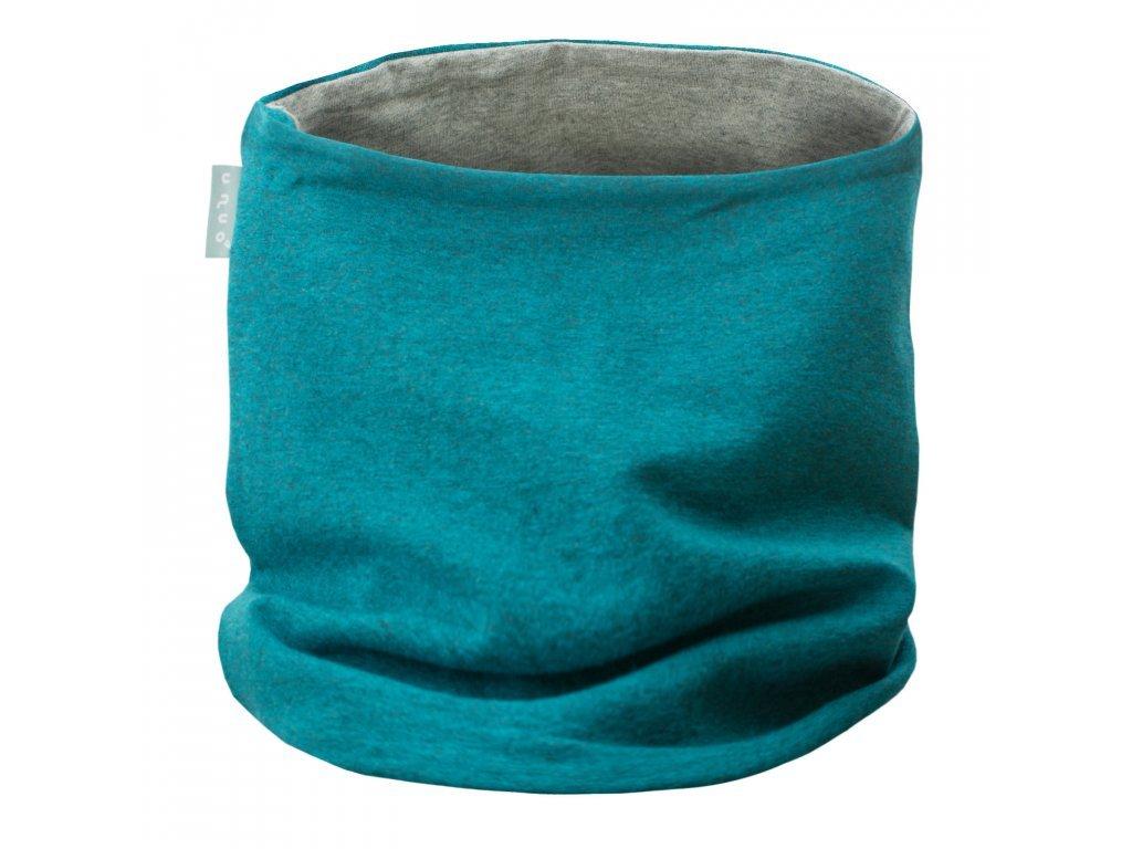 Nákrčník z teplákoviny - Aqua