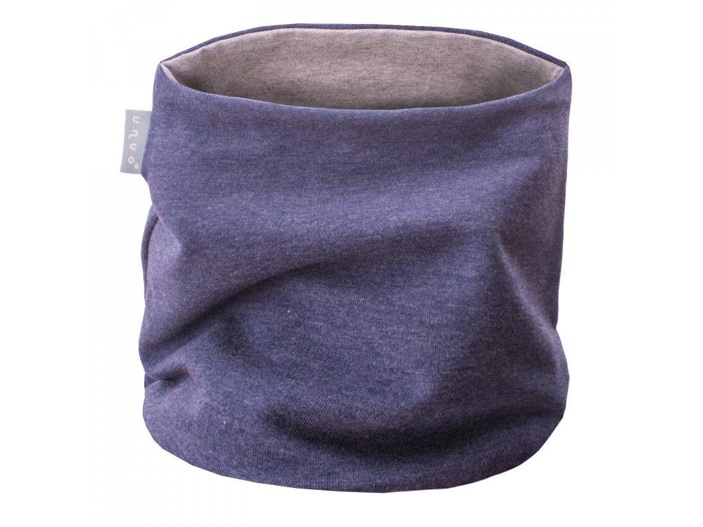Nákrčník z teplákoviny - Tmavý jeans