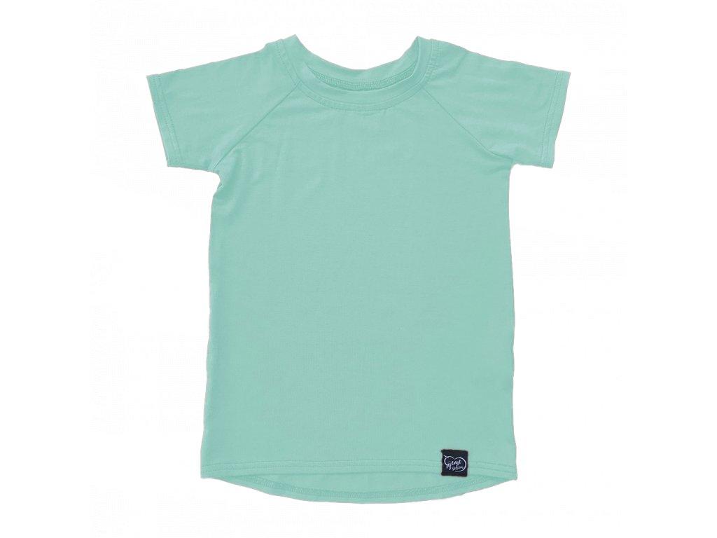 Bambusové tričko - mentolová