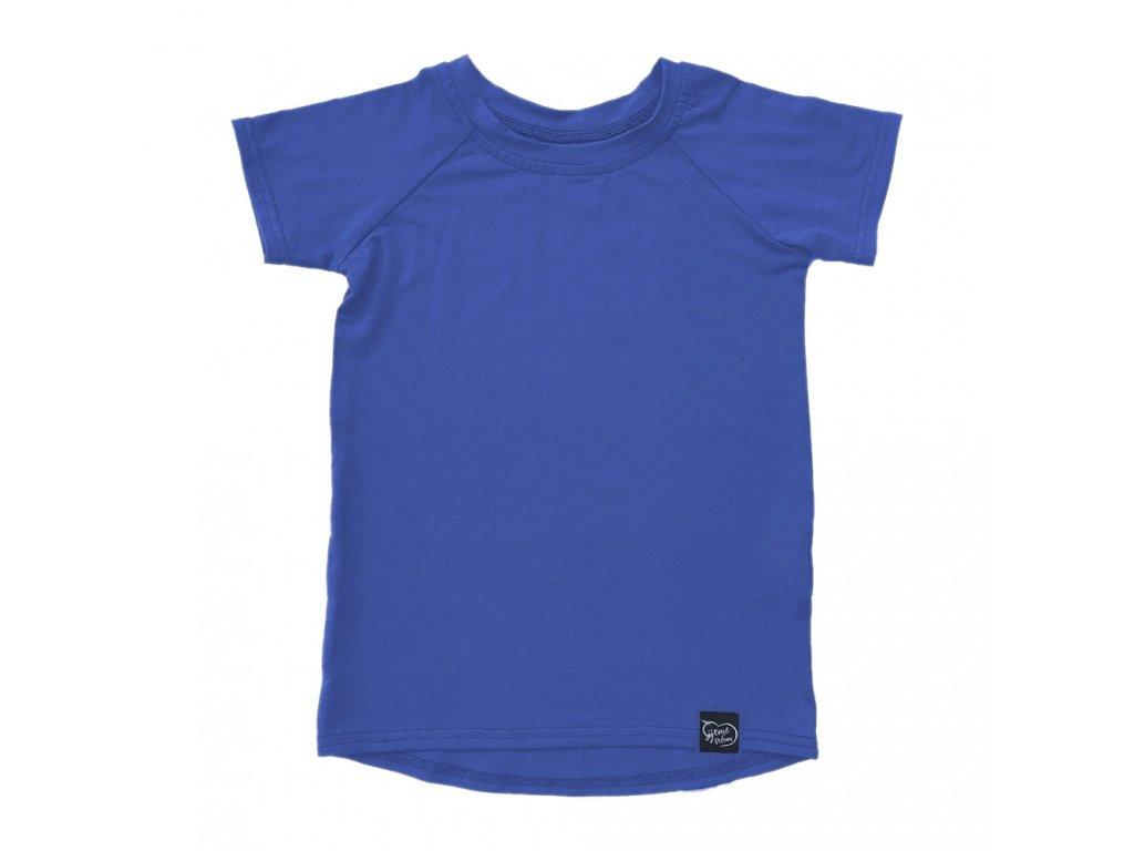 Bambusové tričko - džínově modrá
