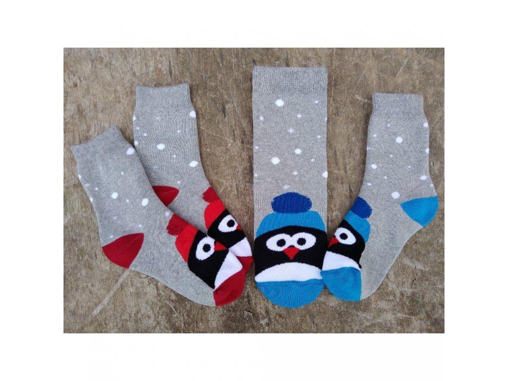 zimni frote ponozky penguin