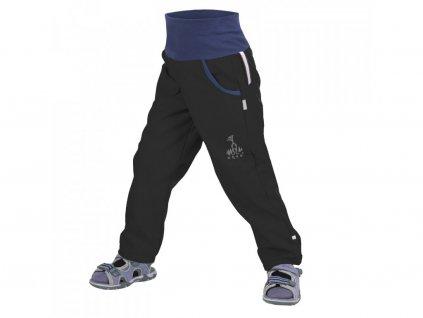 Dětské softshellové kalhoty bez zateplení, černá
