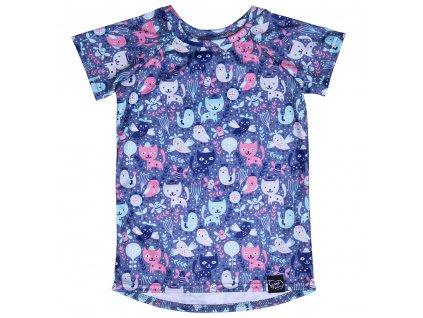 Funkční tričko s kočičkami
