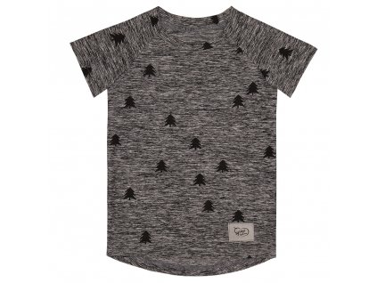 Funkční tričko les - černá