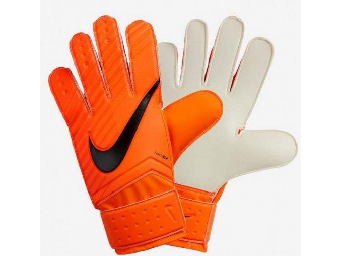 Pánské brankářské rukavice nike GK match GS0344 oranžové