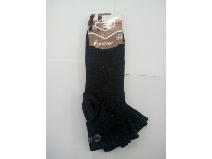 Ponožky Hitec chire dark grey melange