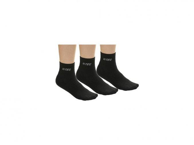 Ponožky Hi-tec quarro pack black
