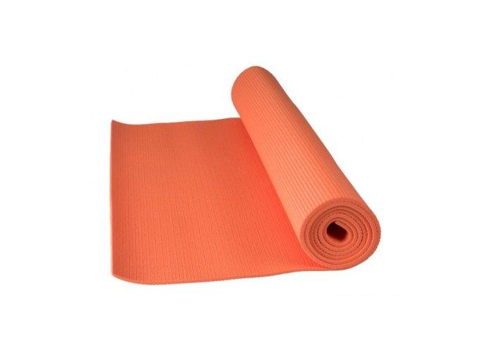 Cvičební podložka fitnes yoga mat Power system oranžová barva