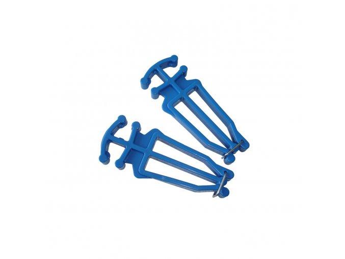 Nosič běžek a hůlek modrá barva