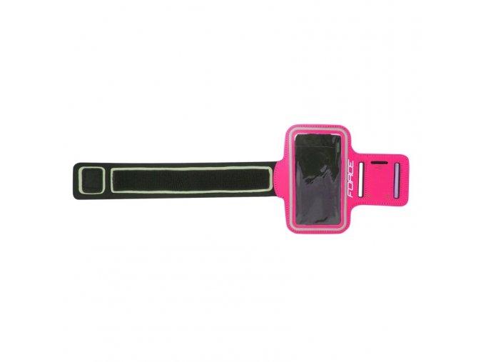 Pouzdro na mobilní telefon Force na ruku růžový 896722