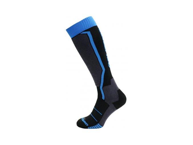 Juniorské lyžařské ponožky Blizzard allround ski socks junior black/anthracite/blue