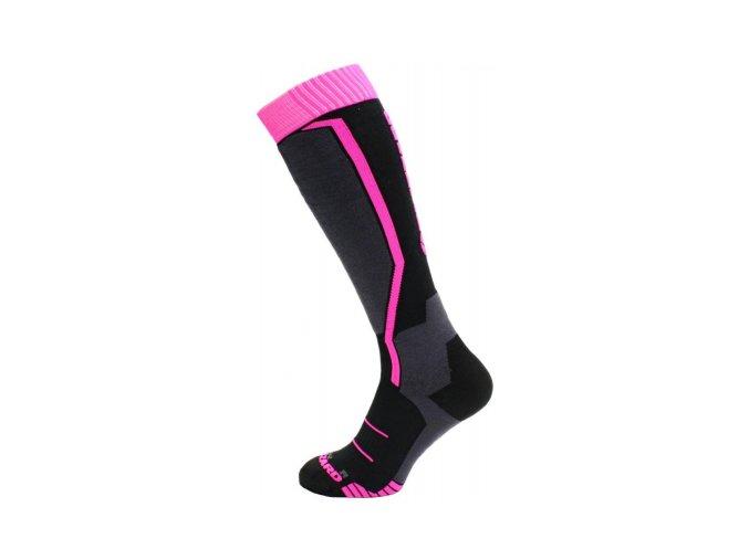 lyžařské ponožky Blizzard Viva allround ski socks black/ anthracite magenta