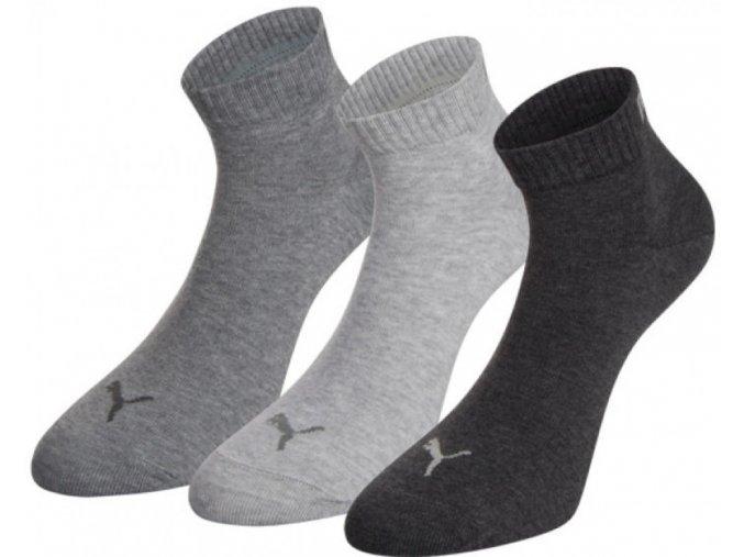 Ponožky Puma Training Quarter PLAIN 3P 271080001 šedá