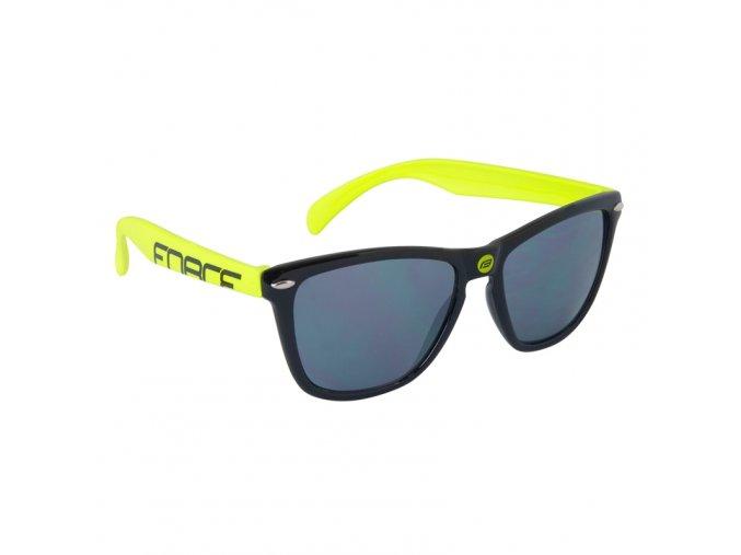 Brýle Force Free černo fluo černá laser skla 91031