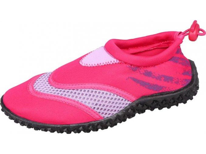 Dětská a juniorská neoprenová obuv Stuf surf fuksie/růžová
