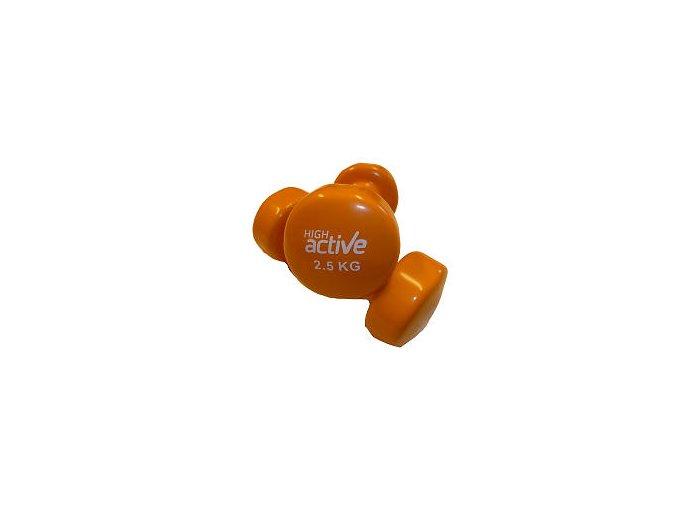 Činka High Active Jednoruční vinylová  2,5 kg oranžová 1 kus