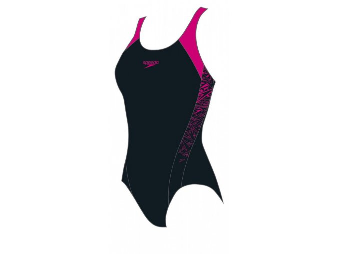 Dívčí plavky Speedo Boom Splice černá/tmavě růžová 68-10844b344