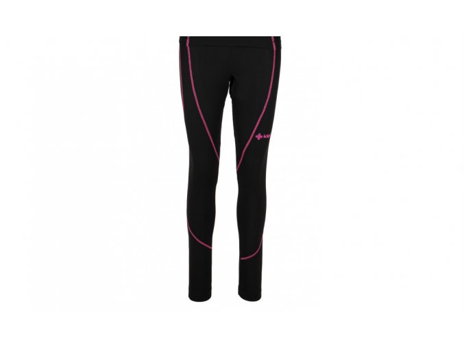 Juniorské funkční kalhoty dlouhé Kilpi Takas jr černo růžové