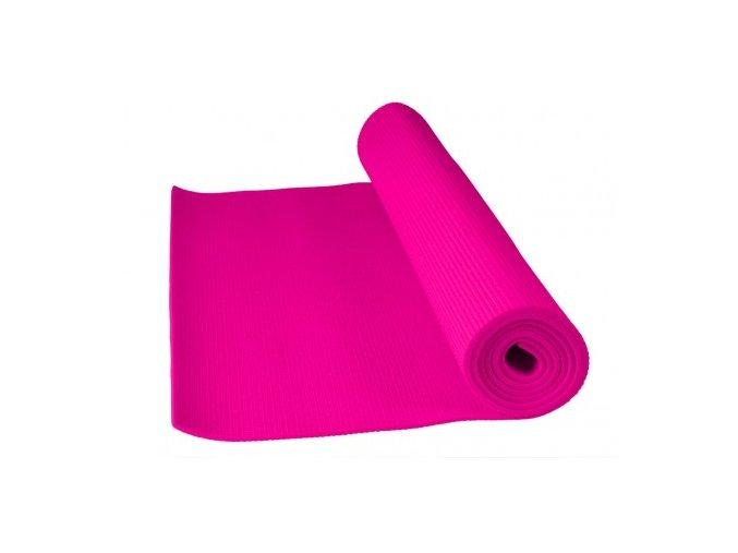 Cvičební podložka fitnes yoga mat Power system růžová barva