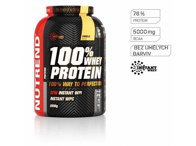 NUTREND 100% Whey protein 900g vanilka
