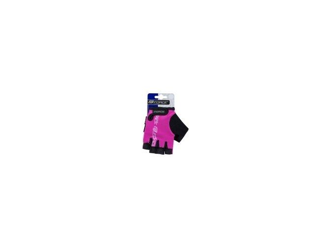 Dětské  cyklorukavice Force kid růžové 905329