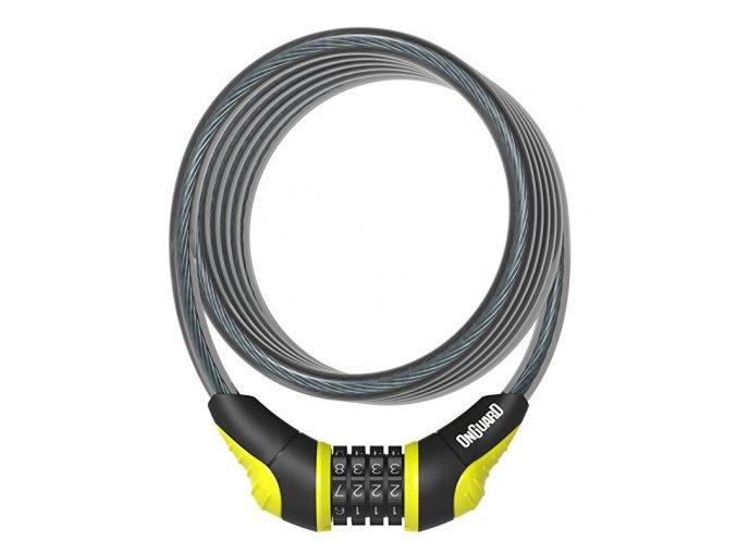 Zámek ONGUARD spirála 1800x10 mm kódový žlutý