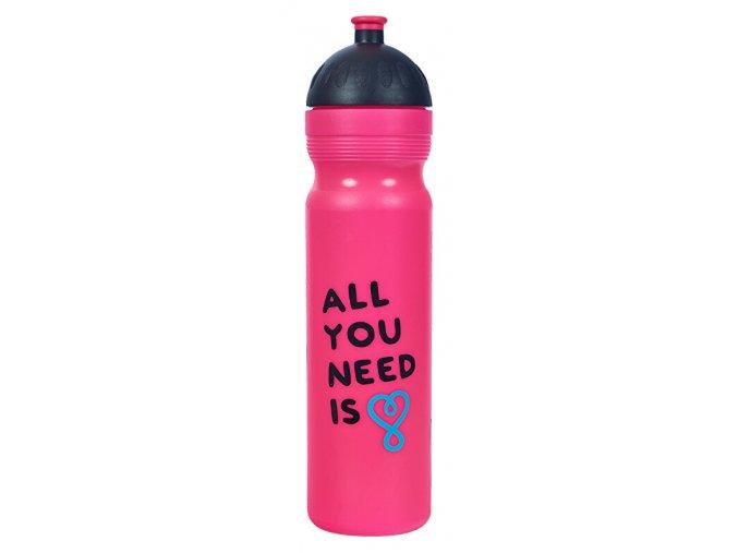 Zdravá lahev 1 l All You Need růžová