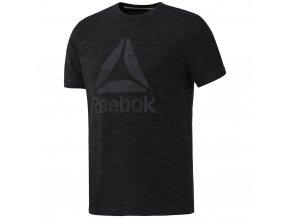 Pánské triko Reebok El Marble Group tee black CY4871