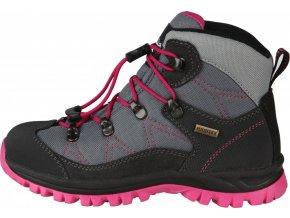 Turistická obuv High Colorado Trek Lite QL šedá/tm. růžová