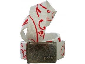 Opasek king 950 bílo červená
