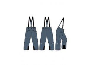 Dětské lyžařské kalhoty Alpine pro Aniko 2 KPAM122602
