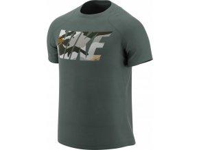 Pánské triko Nike SS FITTED CAMO AT3107 344