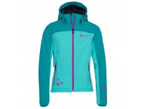 Dívčí softshellová bunda Kilpi Elia-j tyrkysová+fialová