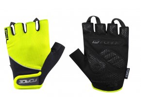 Cyklorukavice Force Gel  fluo 905484