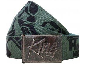 Opasek king 940 zelená černá
