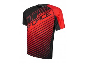 Pánský cyklistický dres Force MTB Attack černo červený 900150