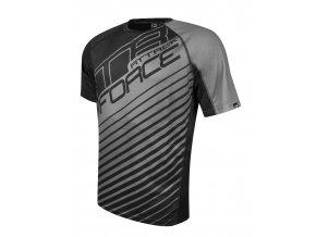 Pánský cyklistický dres Force MTB Attack černo šedý 900152